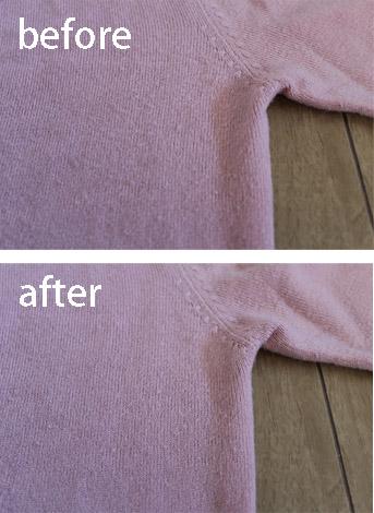 洋服ブラシ使用例
