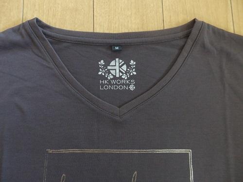 HK WORKS LONDON Tシャツ 部分