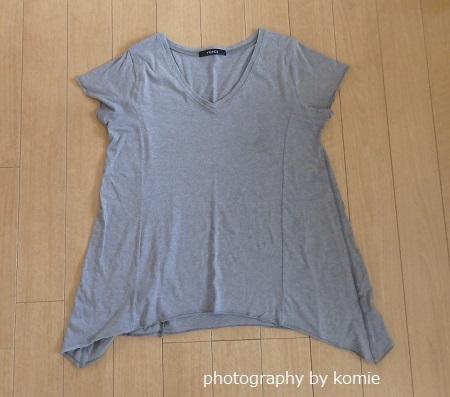 グレーAラインTシャツ