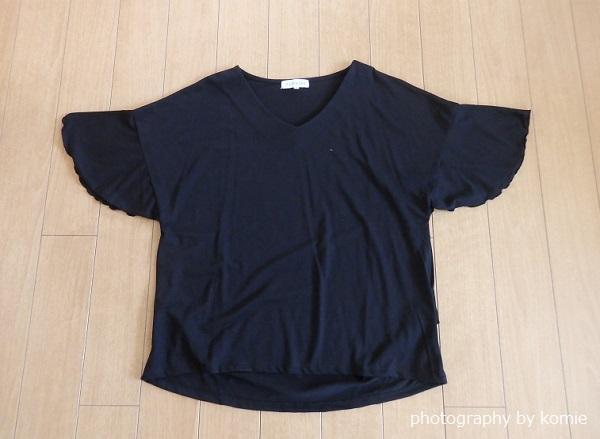 黒の素肌涼やかTシャツ