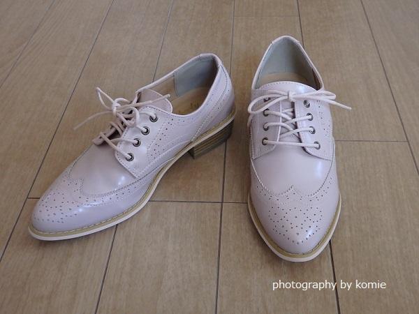 ロコンドピンクベージュ靴